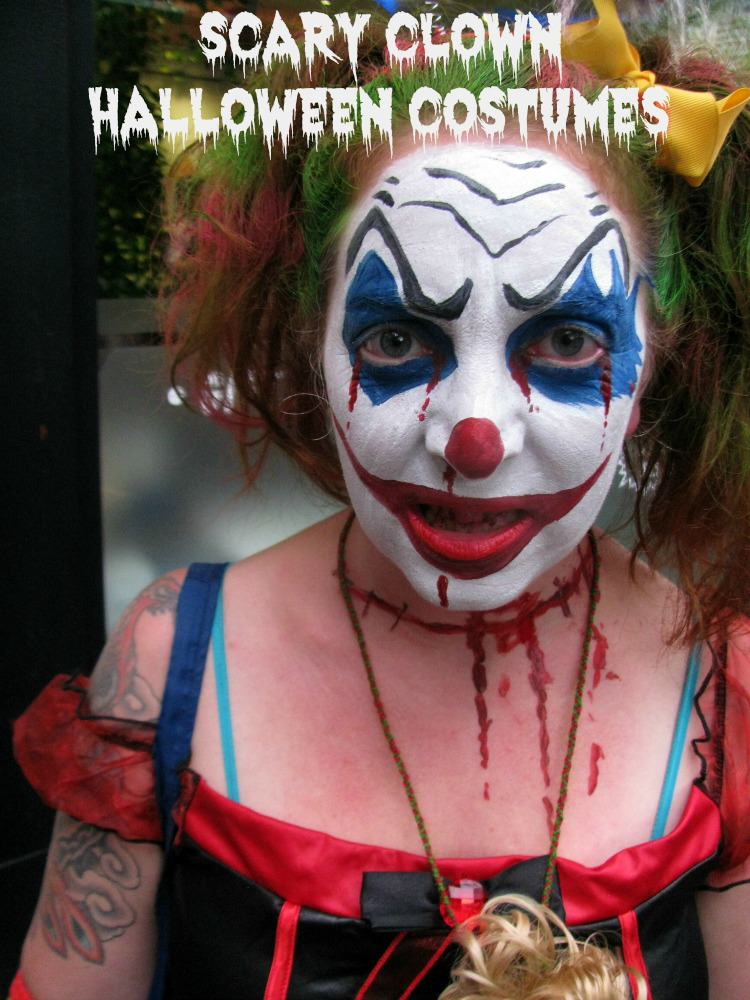 Scary Clown Halloween Costumes