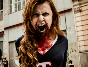 Zombie Cheerleader Halloween Costumes