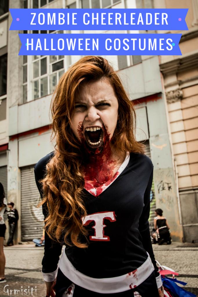 Zombie Cheerleader Halloween Costumes