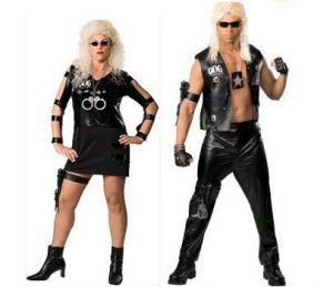 Dog and Beth Chapman costumes for Halloween